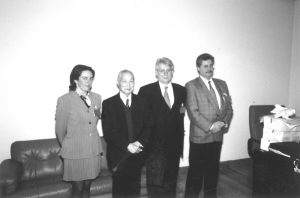 dra. Rojo, Dr. Van Ghi, Dr. Nogueira y Dr. Alvarez 1999