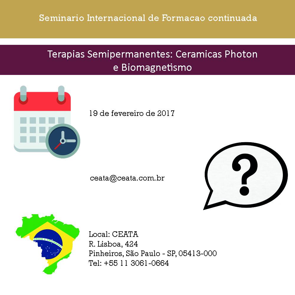 Terapias Semipermanentes: Ceramicas Photon e Biomagnetismo 19-2-17