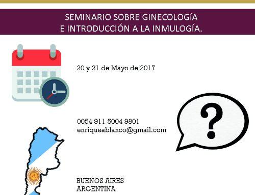 SEMINARIO SOBRE GINECOLOGIA E INTRODUCCIÓN A LA INMULOGIA