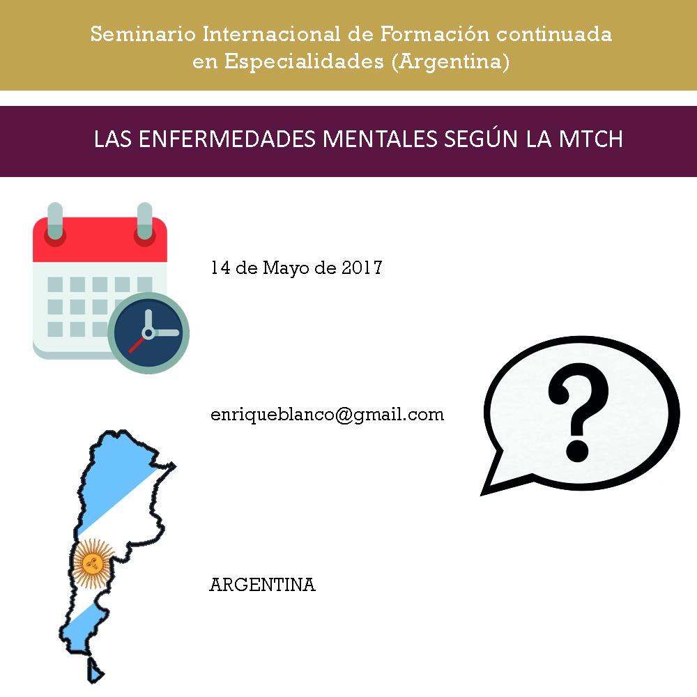 LAS ENFERMEDADES MENTALES SEGÚN LA MTCH Argentina