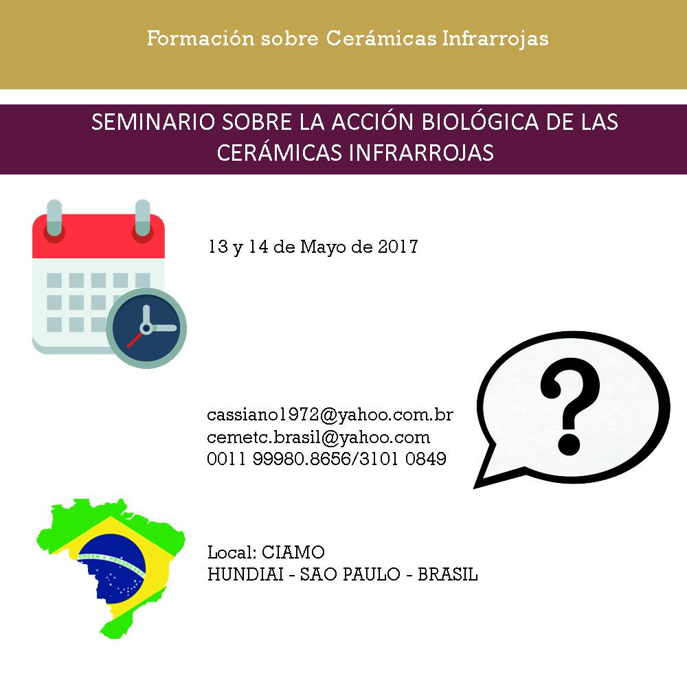 SEMINARIO SOBRE LA ACCIÓN BIOLÓGICA DE LAS CERÁMICAS INFRARROJAS EN CIAMO